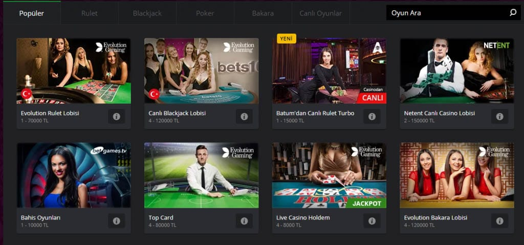 bets10 blackjack firsatlari nelerdir